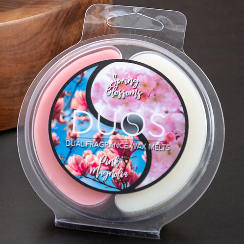 DUOS Wax Melts Candles - Pink Magnolia/Spring Blossoms