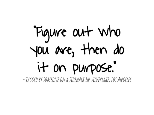 Figure out who you are...