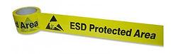 Nastro delimitatore per aree EPA, in PVC laminato con PP trasparente