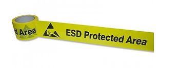 Nastro delimitatore per aree EPA, autoadesivo inPVC laminato con PP trasparente