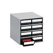Cassettiere ESD utilissime nella formazione di magazzin per piccoli componenti. I cassetti possono essere corredati di divisori interni trasversali.