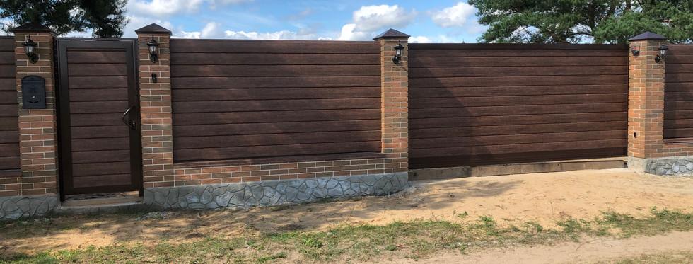 Комплект откатных ворот и калитки DoorHan с высокоскоростной автоматикой ROBUS 500