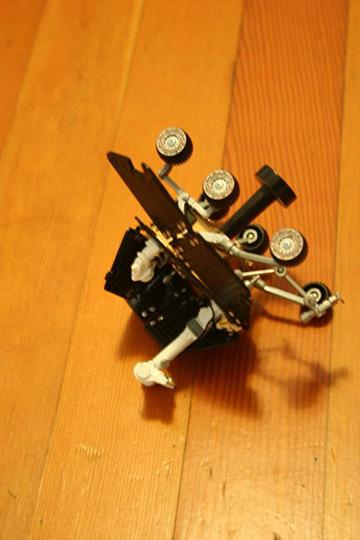 Opp model rocket fallen