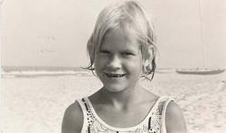 Liz black and white at beach_sm