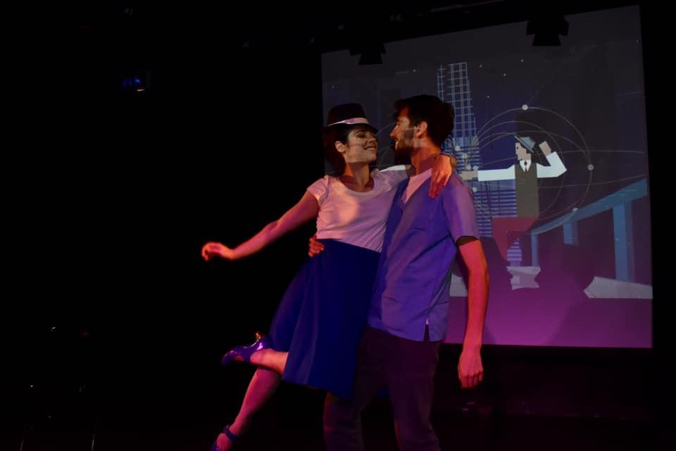 Genie Kaminski (Laura) and Karim Bedda (Matt)