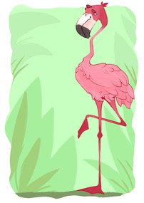 Zebracadabra Concept Art - Flamingo