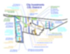 Carte de Côte Saint-Luc – District 4 avec les projets d'investissement
