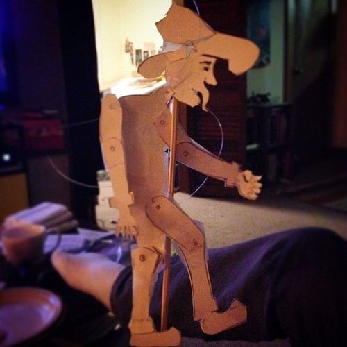 SIMON PEAVY SHADOW PUPPET for Outcast Cafe
