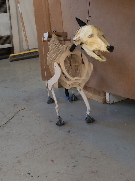 """COYOTE SKELETON PROTOTYPE for Outcast Cafe's """"Riley Ann Visits the Outcast Cafe"""""""