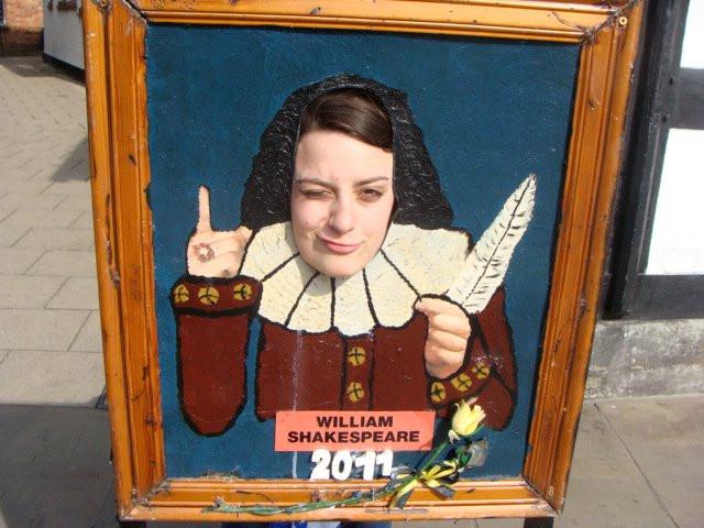 Having some Shakespeare fun in Stratford