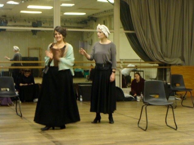 As Lady Landsworth in The Beau Defeated at LAMDA (Dir. Tina Marion)
