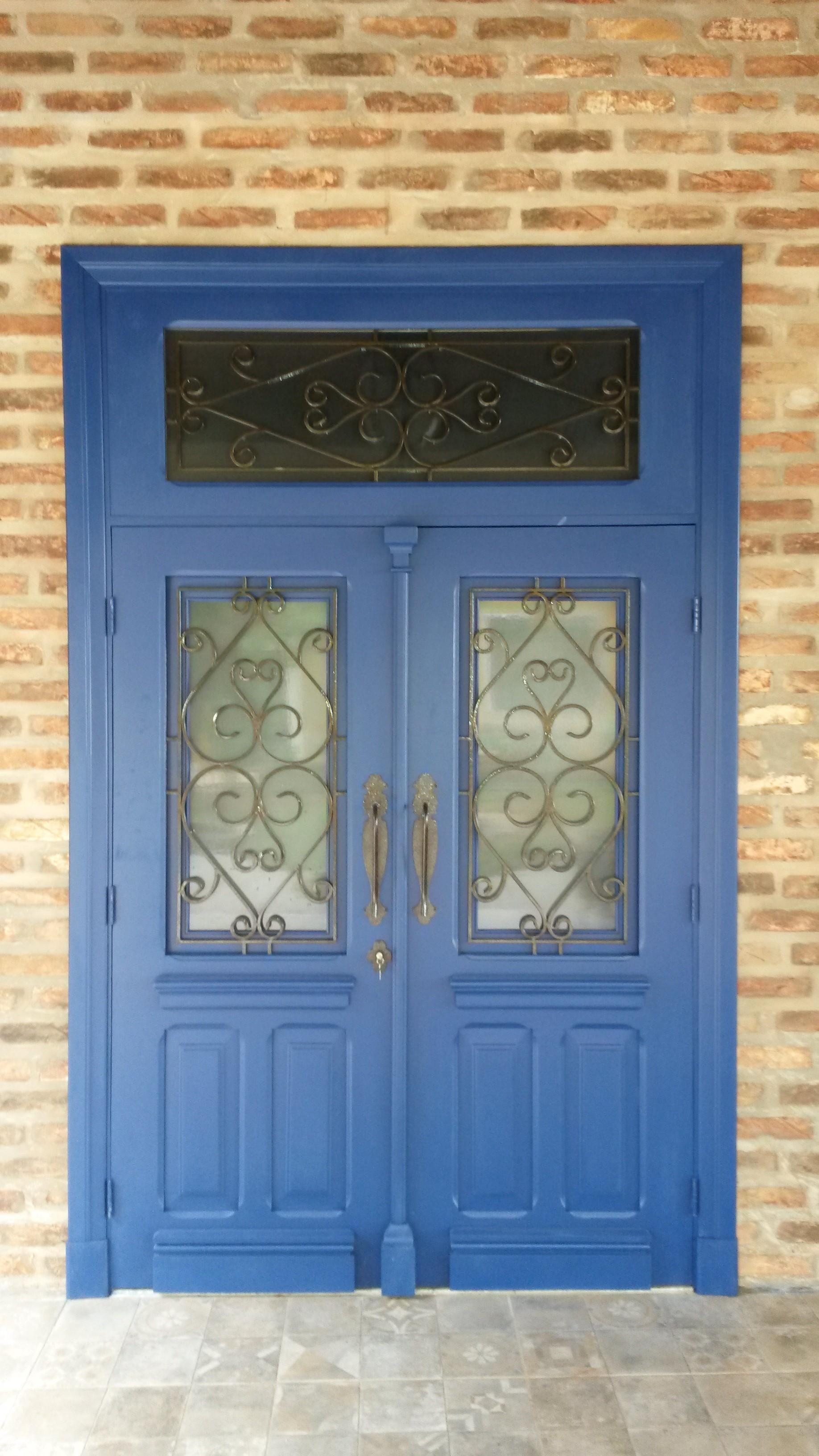porta grade azul