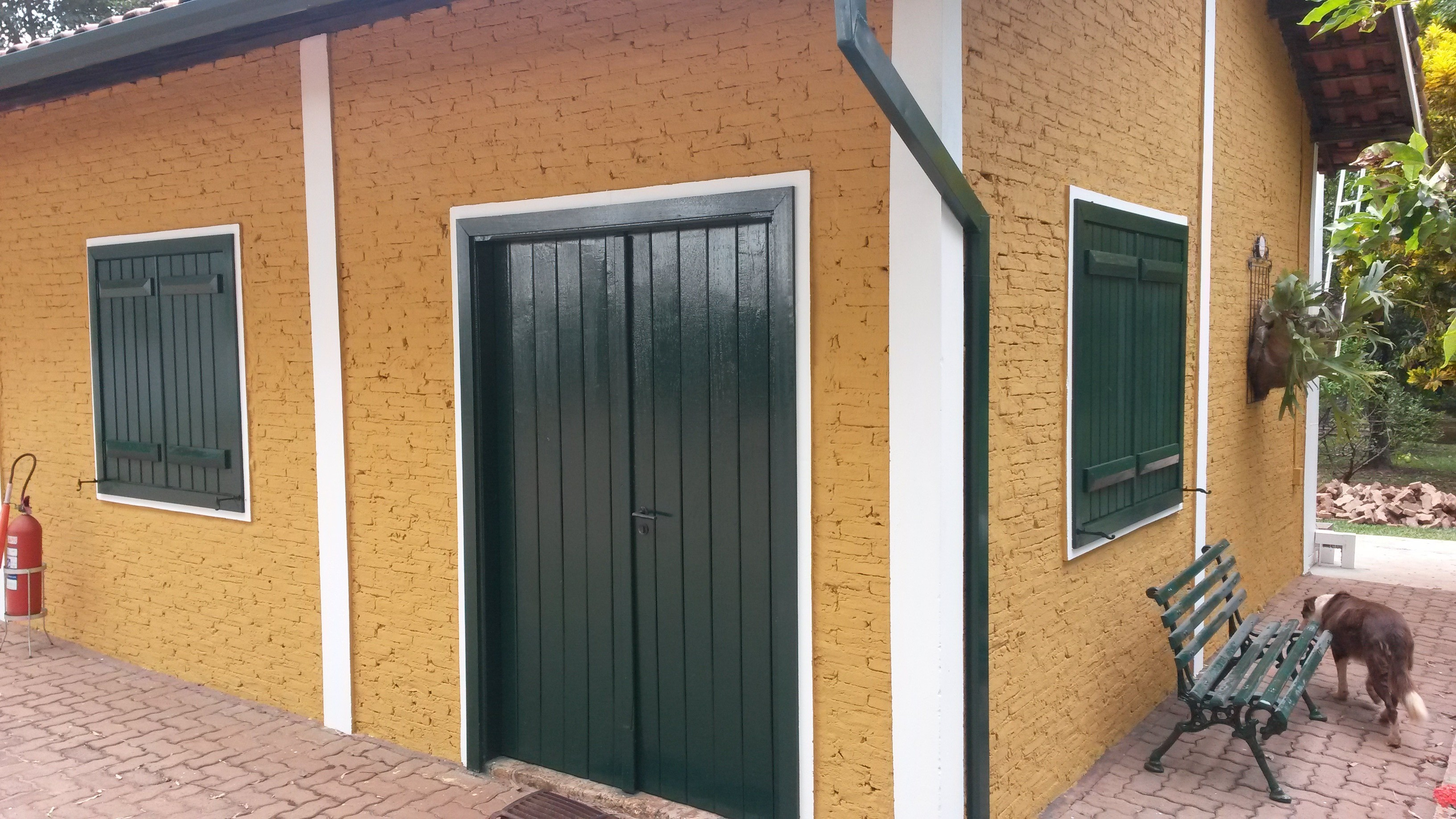 Portas e janelas verdes