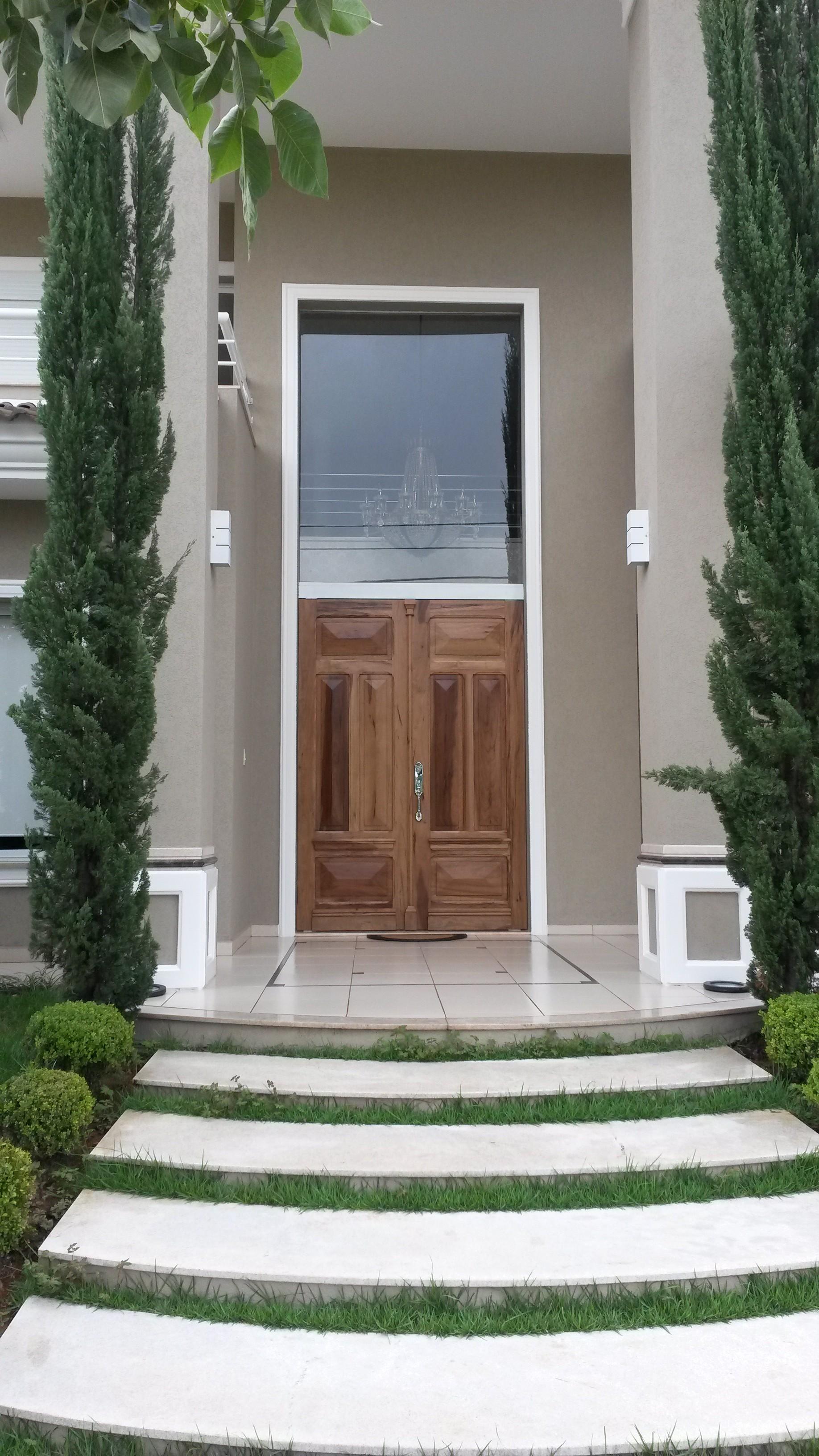porta painel de vidro