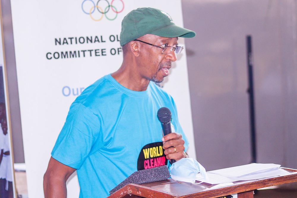 NOCZ Secretary-General Boniface Kambikambi addressing the audience
