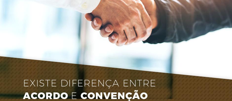 Existe diferença entre acordo e convenção coletiva de trabalho?