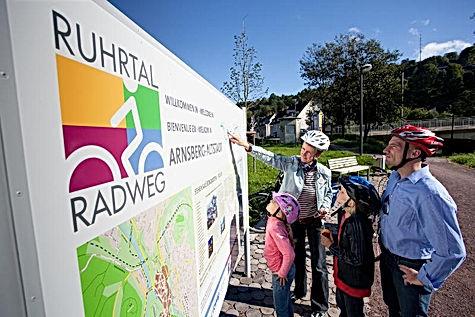 Der RuhrtalRadweg 240 km lang