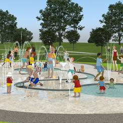 62% of people survayed would like the Splash Park on the old swimming pool site
