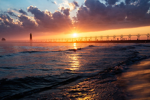Grand Haven Sunset | Stock | Royalty Free