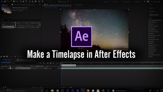 How to make a Time-lapse in After Effects