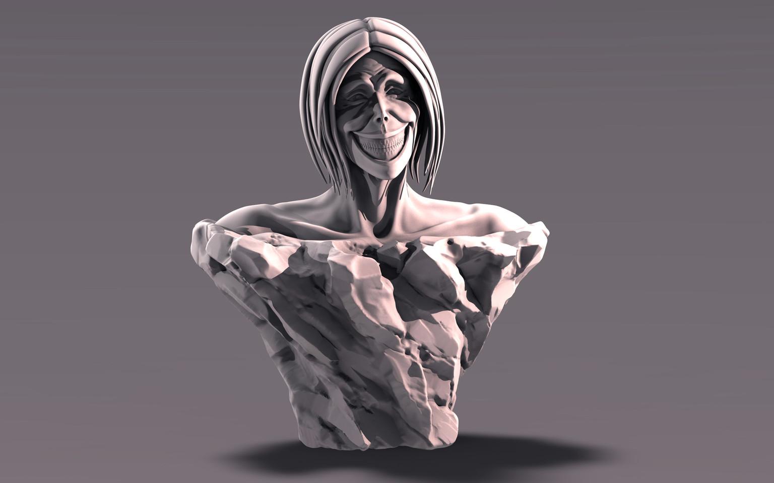 Smiling Titan Bust
