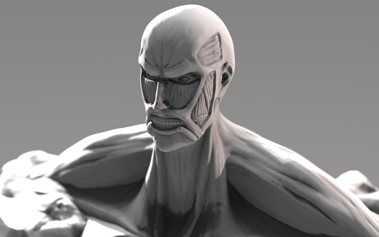 Colossal Titan Bust