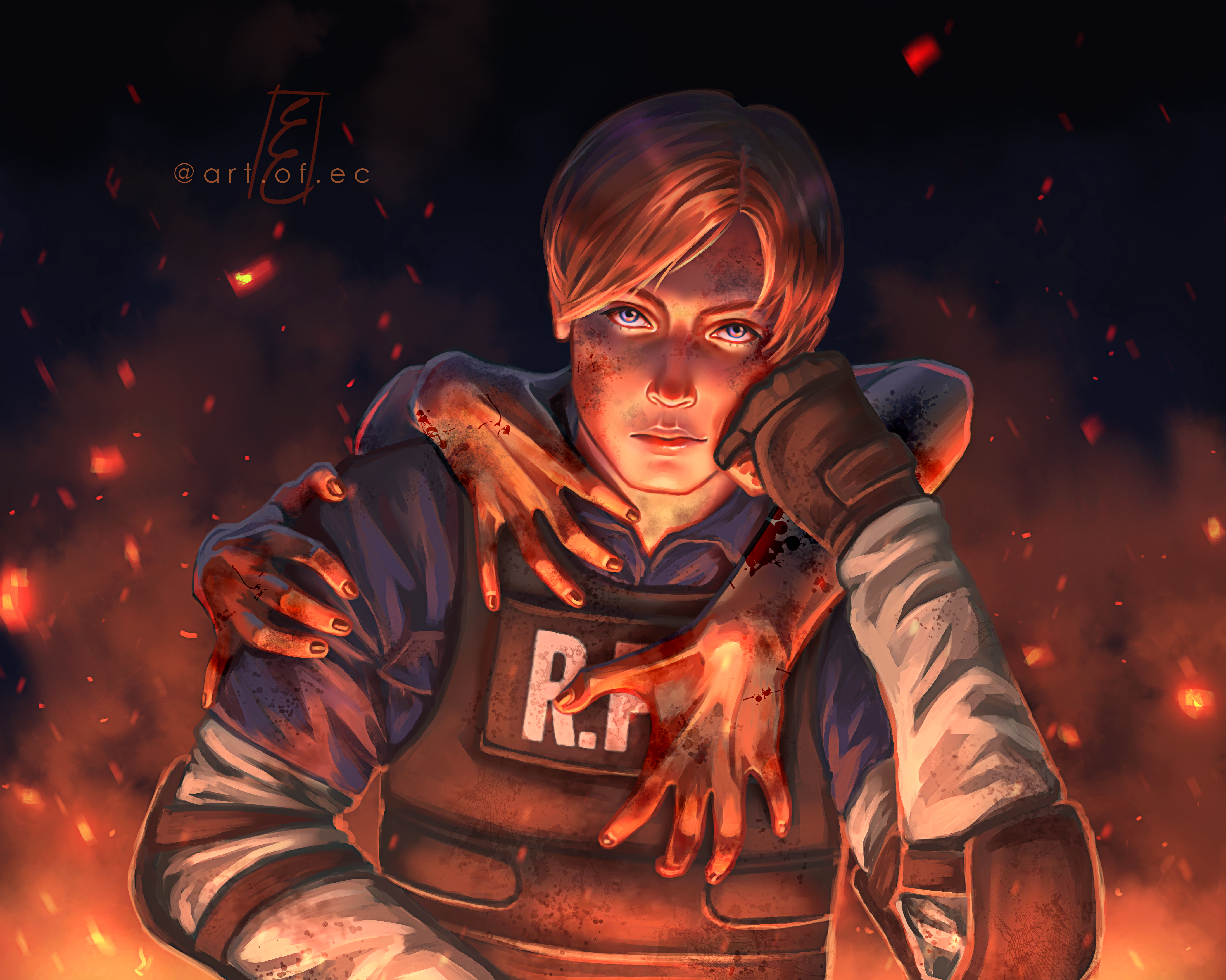 Leon Kennedy from 'Resident Evil 2'