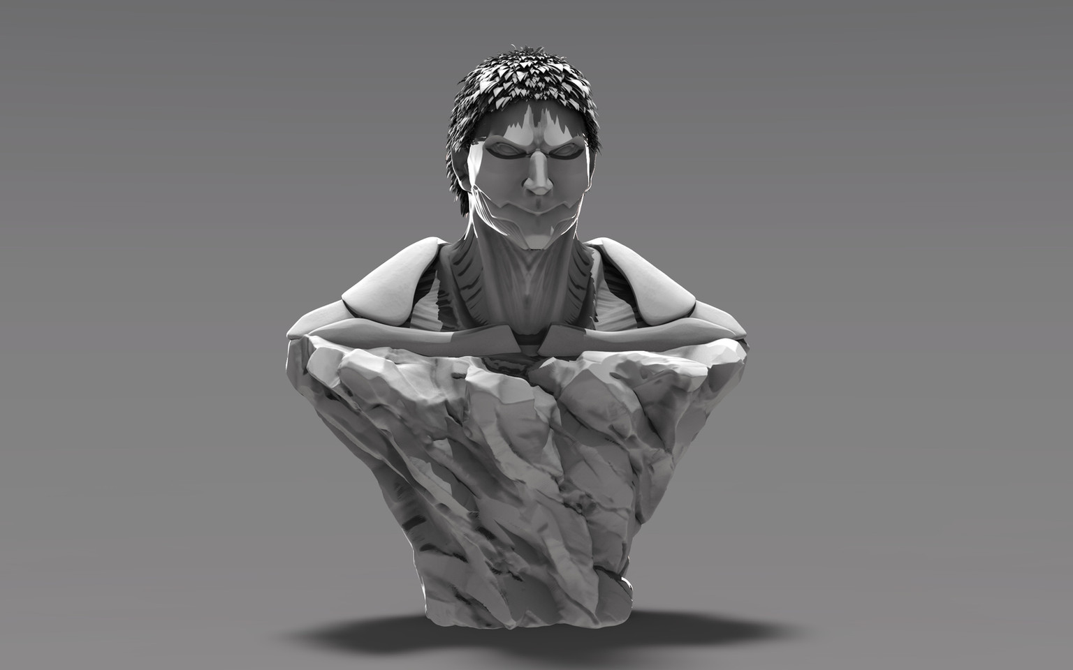 Armored Titan Bust