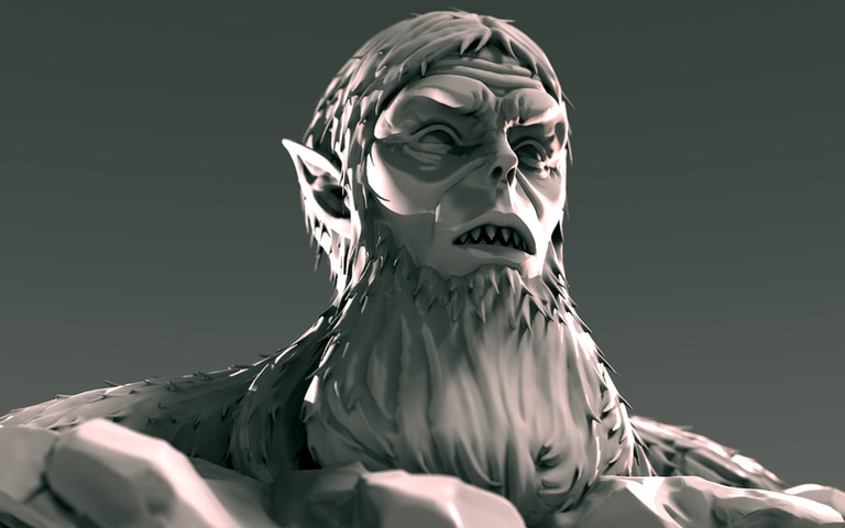Beast Titan Bust
