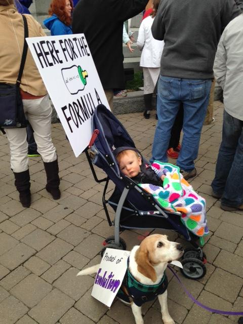 Baby Stroller & Dog