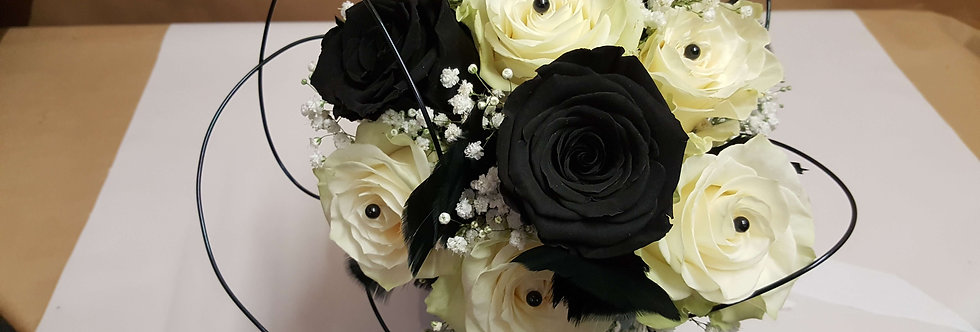 """Bouquet """"Black and White"""""""