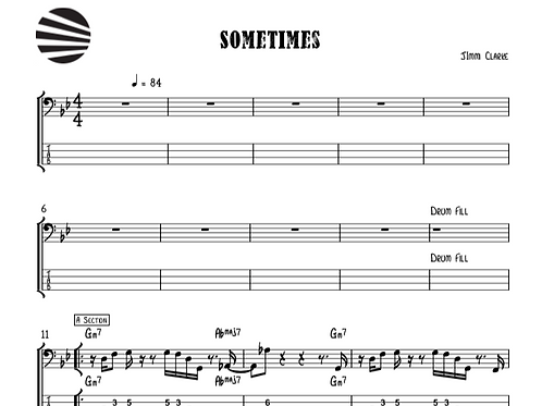 SOMETIMES - SHEETMUSIC