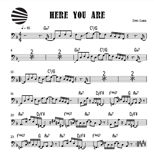 HERE YOU ARE - SHEET MUSIC