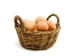 Eggs and baskets.