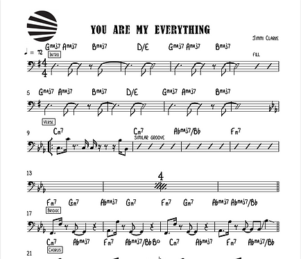 YOU ARE MY EVERYTHING - SHEET MUSIC