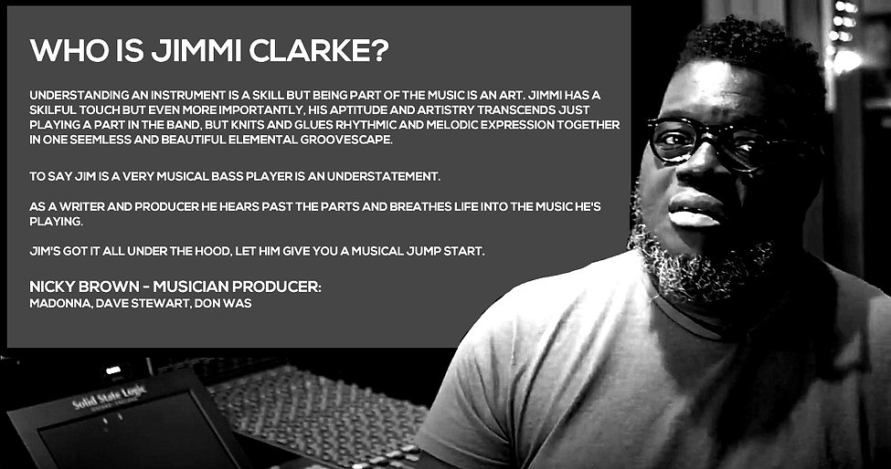 Nicky Brown Producer Testimonial for Jimmi Clarke Bass Player