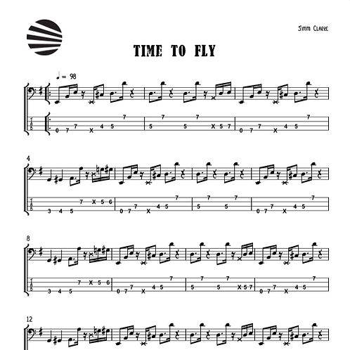 TIME TO FLY - SHEET MUSIC
