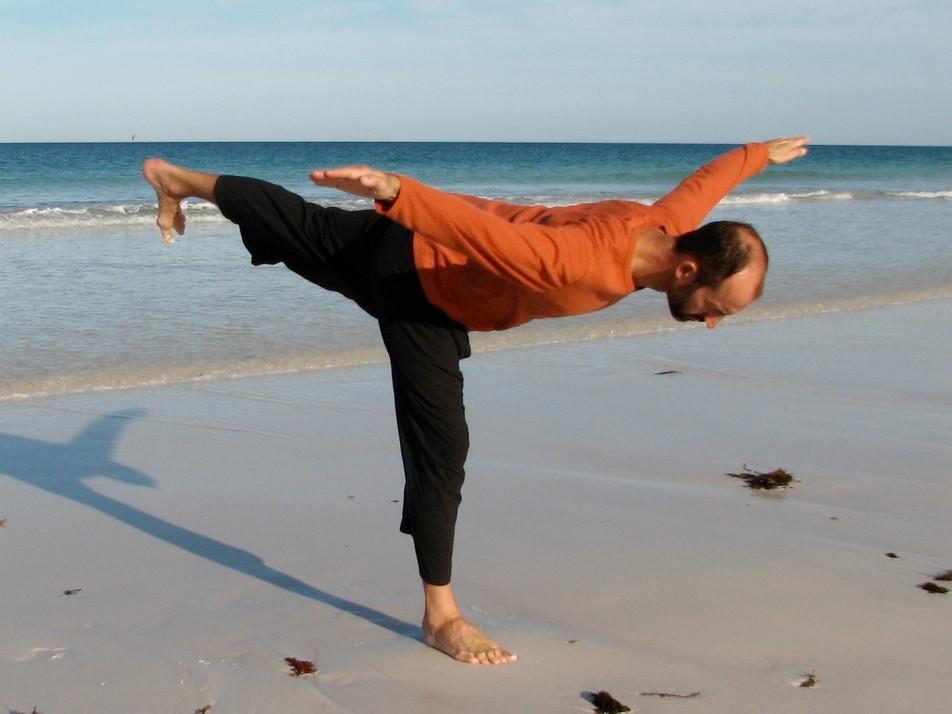 Flying balance pose