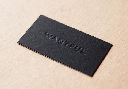 Debossing Business Card in black color