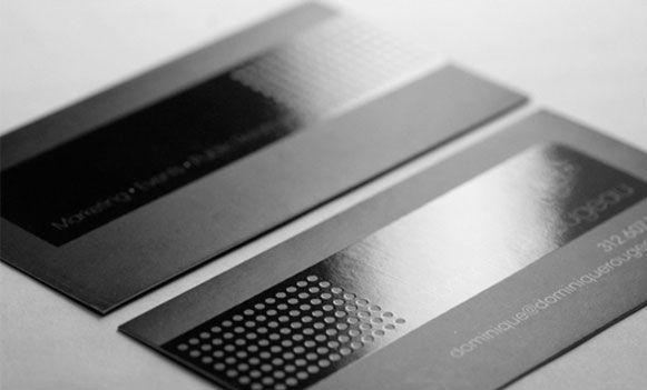 Varnish/ UV Spot Business Card in dark and grey color