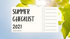 SUMMER CHECKLIST 2021