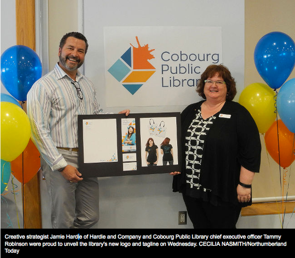 Cobourg Library unveils new logo and tagline
