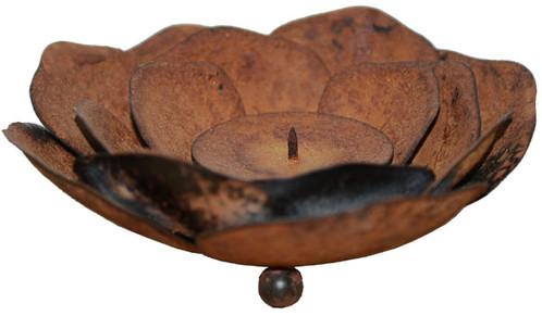 Kerzenhalter In Rost Optik Der Geheime Garten Dekoration