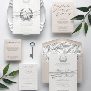 Elegant Leaf Wedding Suite