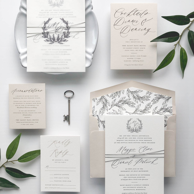 Elegant Leaf Wedding Suite