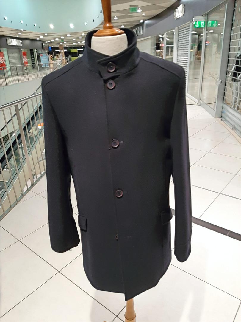 Kabát se stojákem vlněný