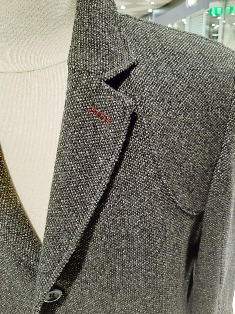 Kabát šedočerný vlněný