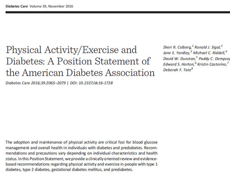 ADA Physical Activity/Exercise