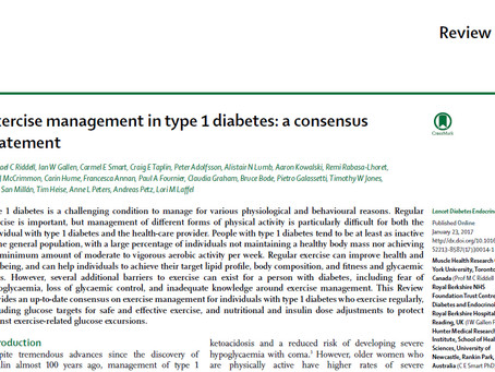 Exercise Management in Type 1 Diabetes: A Consensus Statement