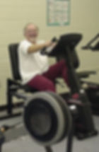 Happy exerciser involved in a diabetes exercise program for better health